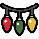 christmas, decoration, holiday, lights icon