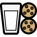 christmas, cookies, milk, milk and cookies, santa icon