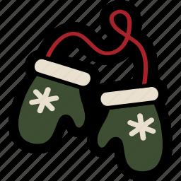 christmas, mittens, winter, winter mittens icon