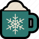 christmas, coffee, cup, drink, hot chocolate, mug, tea icon