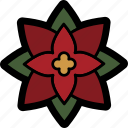christmas, flower, poinsettia, winter icon