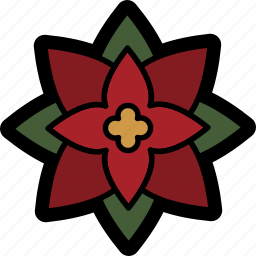 christmas, december, flower, holiday, poinsettia, winter icon