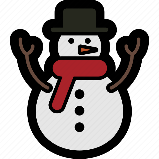 christmas, holiday, man, snow, snowman, winter icon
