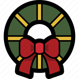christmas, decoration, holiday, winter, wreath icon