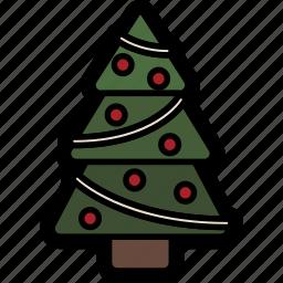christmas, holiday, pine, tree, winter icon