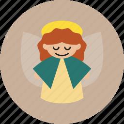 angel, christmas, holiday icon