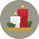 candle, candles, christmas, holiday icon