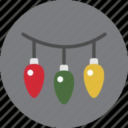 christmas, decoration, holiday, lights icon