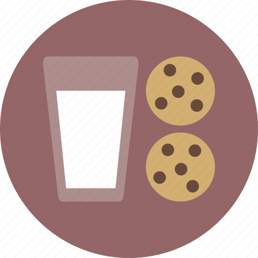 christmas, cookie, glass, milk, milk and cookies, santa icon