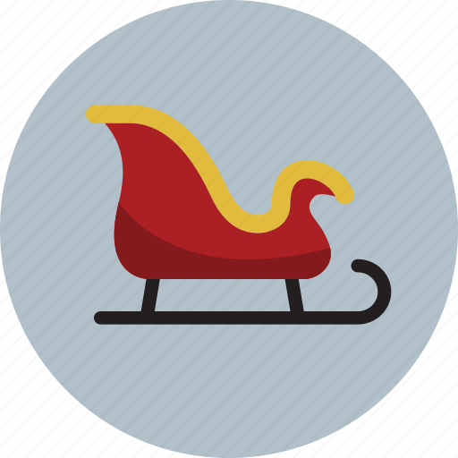 christmas, sled, sleigh, winter icon