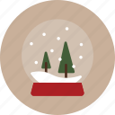 christmas, globe, snow, snowglobe icon