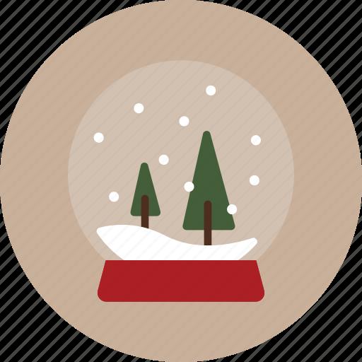 christmas, globe, snow, snowglobe icon