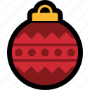 bauble, christmas, decoration, holiday, ornament icon