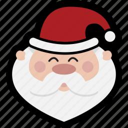 christmas, head, holiday, santa, xmas icon