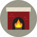 fire, fireplace, home, winter icon