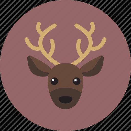 animal, head, reindeer icon