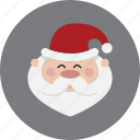 christmas, head, holiday, santa, xmas icon