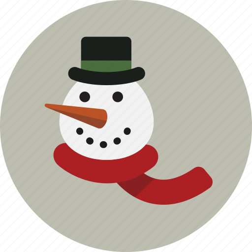 christmas, head, snowman, winter icon