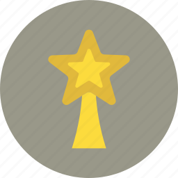 christmas, decoration, star, topper, tree icon