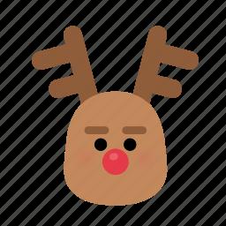 christmas, december, deer, rudolph, santa, xmas icon