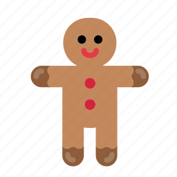 christmas, cookie, decoration, gingerbread man, sweets icon