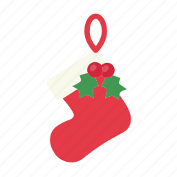 christmas, decoration, gift, santa socks, santa stocking, stocking, xmas icon