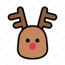 christmas, deer, rudolph, santa, xmas icon