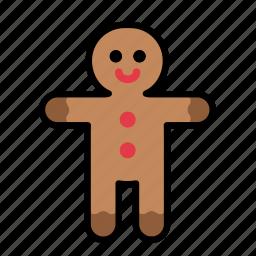 christmas, decoration, gingerbread, gingerbread man, xmas icon