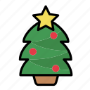 christmas, december, decoration, holiday, tree, winter, xmas icon