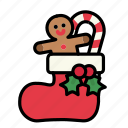 candy, christmas, christmas decoration, decoration, santa stocking, sweet, sweets icon