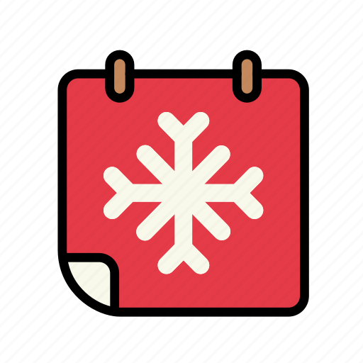 calendar, christmas, december, schedule, winter icon