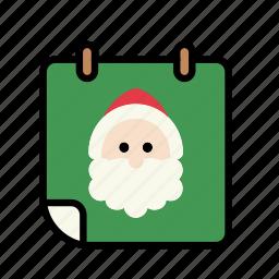 calendar, christmas, december, holiday, schedule, xmas icon