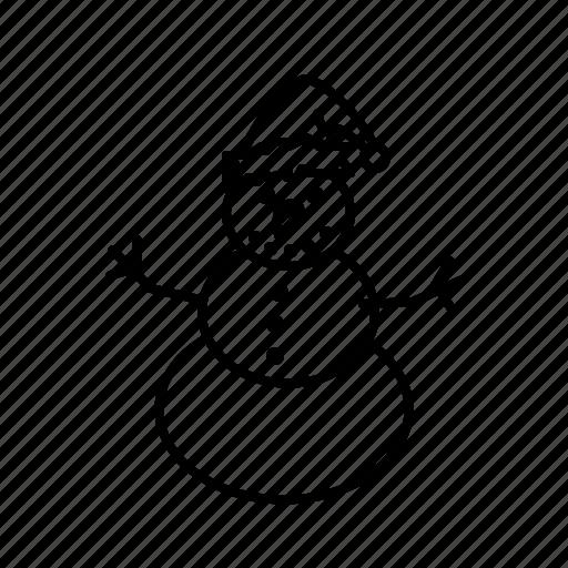 christmas, snowman, winter, xmas icon