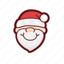 christmas, color, father, holy, santa, xmas icon