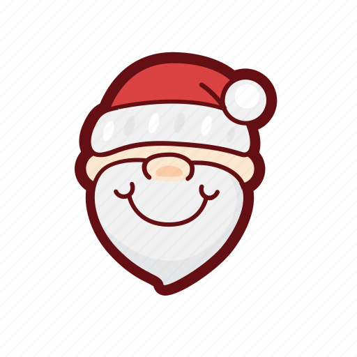 christmas, color, father, holy, santa, xmas icon