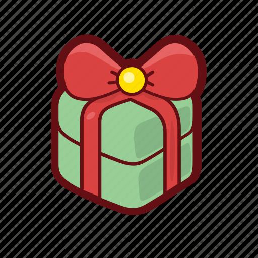box, christmas, color, gift, present, xmas icon