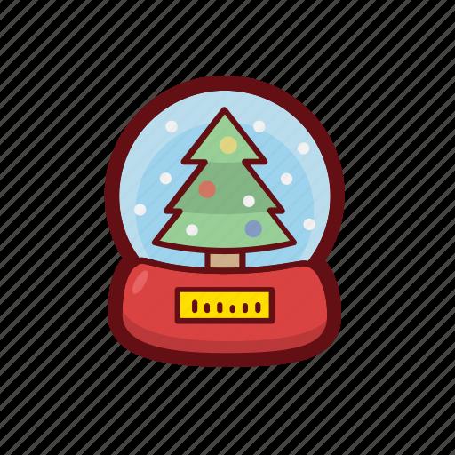 christmas, color, snow, snow globe, tree, xmas icon