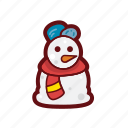 christmas, color, santa, snowman, winter, xmas icon