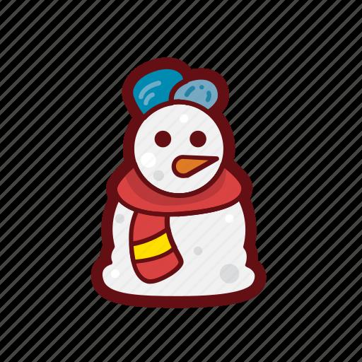 christmas, color, santa, snowman, winter, xmas icon