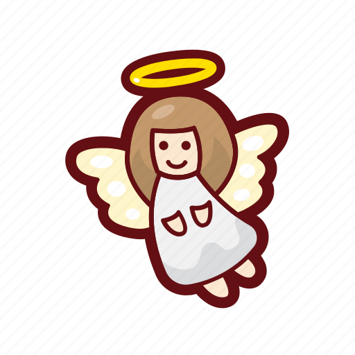 angel, christmas, color, holy, winter, xmas icon