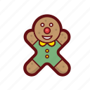 christmas, color, cookie, gingerman, sweet, xmas icon