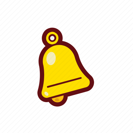alert, bell, christmas, color, decorate, xmas icon