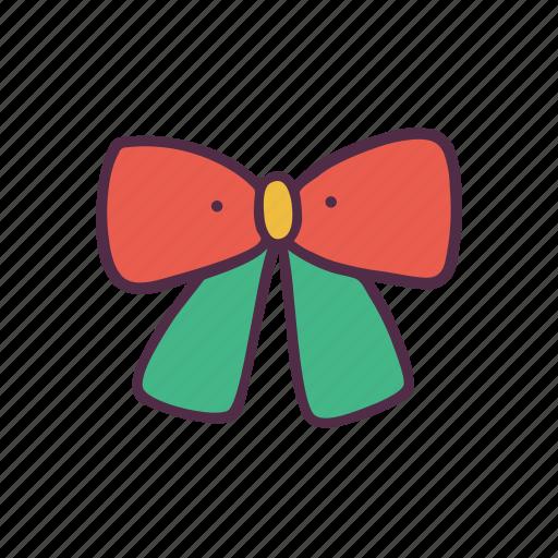 bow, christmas, decoration, holidays, newyear, ribbon, xmas icon