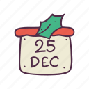 calendar, christmas, date, december, holidays, newyear, xmas icon