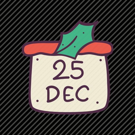 calendar, christmas, date, december, holidays, newyear, xmas icon