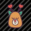 animal, christmas, decoration, deer, holidays, newyear, xmas icon