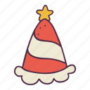 celebrate, christmas, holidays, newyear, party hat, star, xmas icon