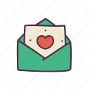 christmas, decoration, email, happiness, heart, letter, love icon