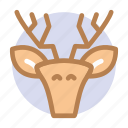 animal, celebration, christmas, deer, merry, winter, xmas icon