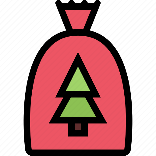 bag, christmas, holidays, new year, winter icon